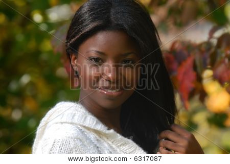 African-american Woman smiles