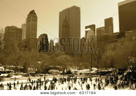 Ice Rink Central Park New York