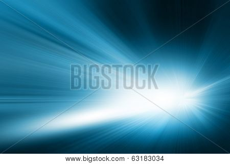 Abstract image of driving  in the tunnel at night. Motion blur.