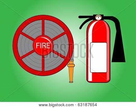 Fire Hose Reel And Extinguishing