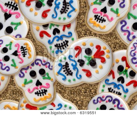 Day of the Dead (holiday) sugar skull cookie wallpaper