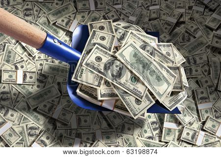 Shovel up money