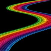 An abstract amazing rainbow on black background poster