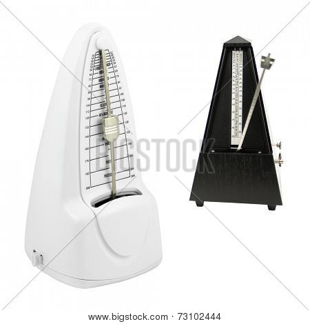The image of metronome under the white background