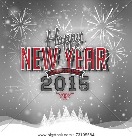 Beautiful Happy New Year 2015 illustration