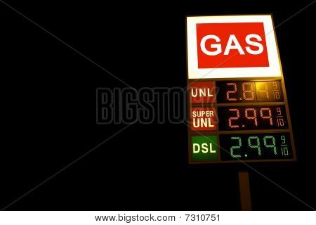 Gas Price Sign Electronic