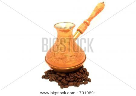 Copper Cezve And Coffee