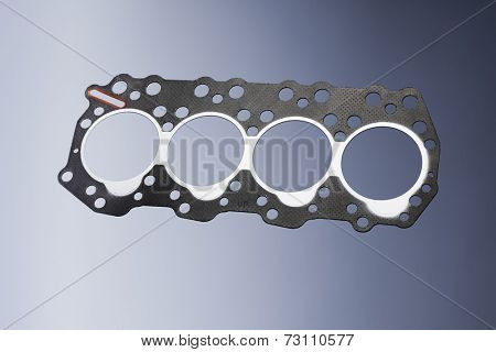 Head gasket of a small diesel engine.