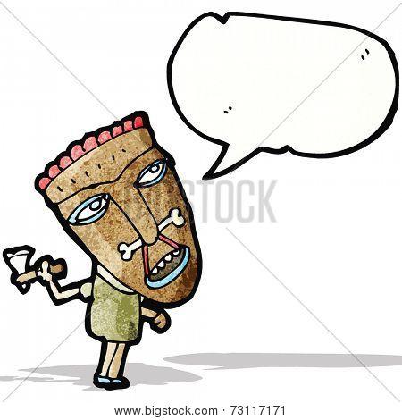 cartoon shaman tribesman