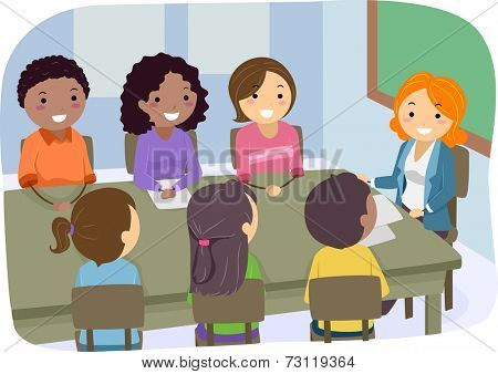Illustration Featuring a PTA Meeting