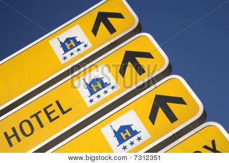 Hotel Direction Signs