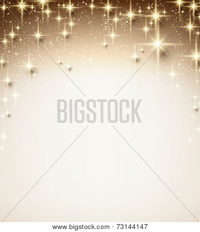 Christmas abstract texture background. Holiday illustration with stars and sparkles. Vector.