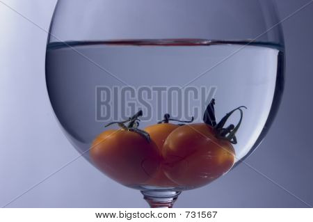 Tomato Inside The Glass - Macro