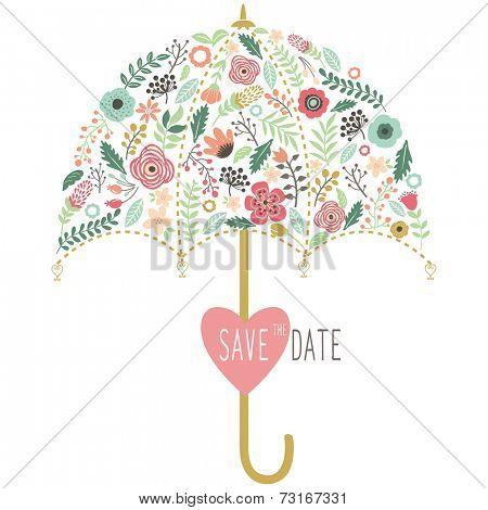 Flora Wedding Umbrella Elements