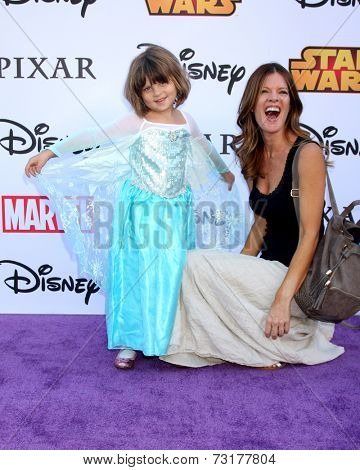LOS ANGELES - OCT 1:  Natalia Scout Lee Stafford, Michelle Stafford at the VIP Disney Halloween Event at Disney Consumer Product Pop Up Store on October 1, 2014 in Glendale, CA