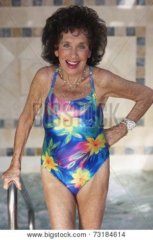 Senior woman wearing bathing suit