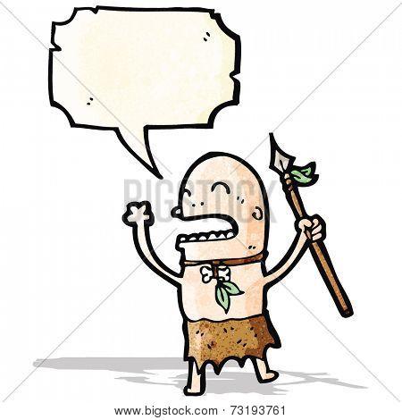 chanting tribesman cartoon