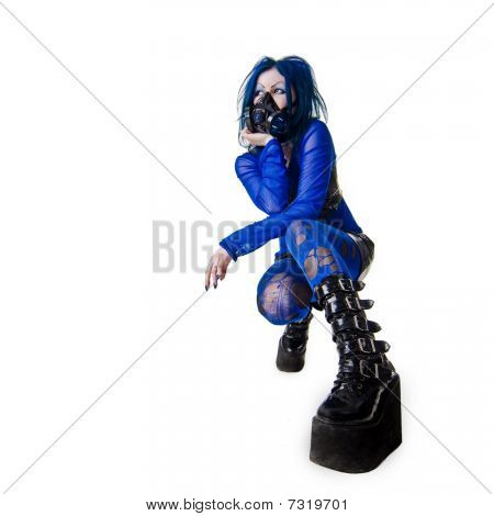 Young Cyber Goth Woman