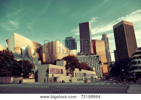 Los Angeles, CA - MAY 18: Downtown street view on May 18, 2014 in Los Angeles. Los Angeles is the second-most populous city after New York in USA.