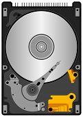 Illustration set of hard disk in vector. poster