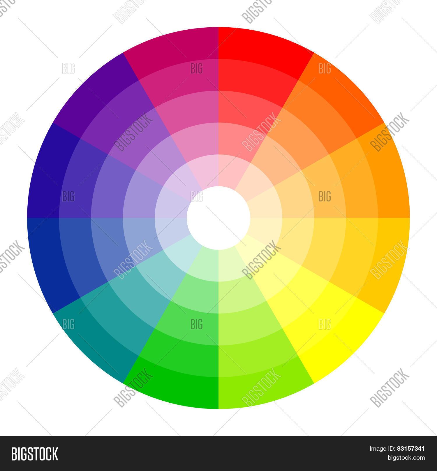 Rainbow Color Wheel Vector Photo Free Trial Bigstock