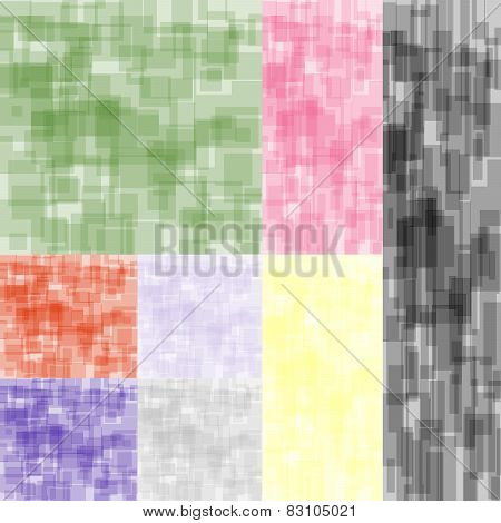 Eight Abstract Color Backgrounds Set