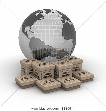Shipping Worldwide Concept