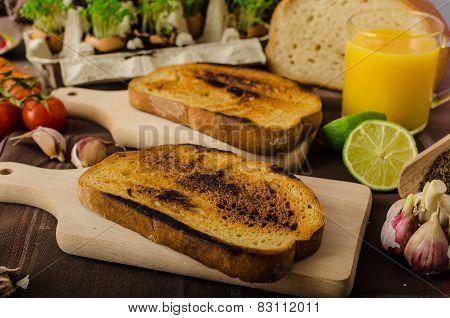 Roasted Cherry Tomato Sauce and Ricotta on Toast preparing toasts poster