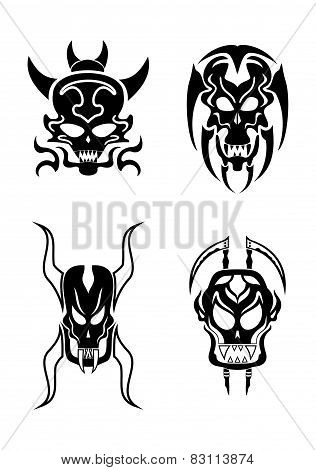 Skull tribal tattoo