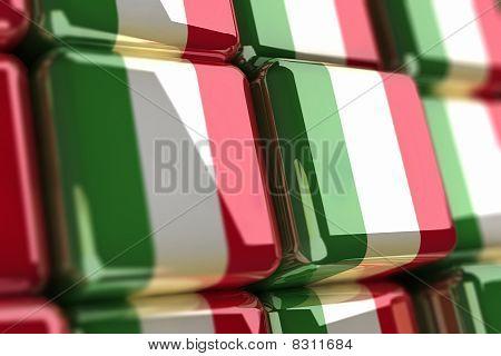 Italian Flag-cube