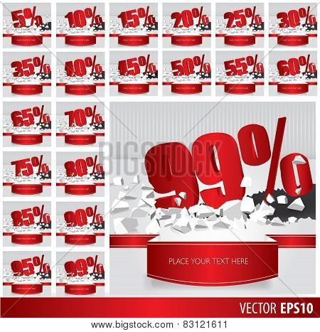 Red Collection Discount  5  10 15 20 25 30 35 40 45 50 55 60 65 70 75 80 85 90 95 99  Percent  On Ve