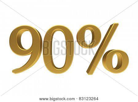90 percent off. Discount 90. 3D illustration