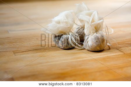 Spices in a Muslin Bag