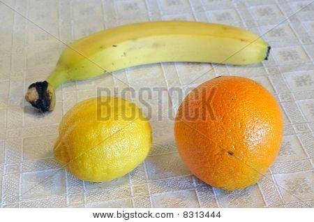 Orange, Lemon, Banana