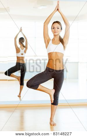 Woman Exercising.