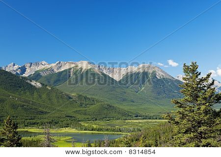 Mountain View Of The Canadian Rockies, With Text Space
