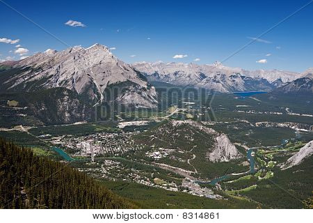 Aerial View Of Banff, Alberta