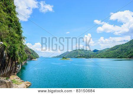 reservoir Kanchanaburi ,thailand