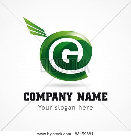 Letter G green flying abstract brandname sign. Branding vector logo G design. Business icon. Technology, networking administration, geological research or green energy symbol.