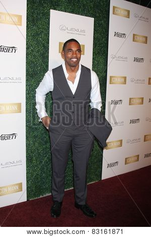 LOS ANGELES - FEB 18:  Jason George at the ICON Mann Power Dinner Party at a Mr C Beverly Hills on February 18, 2015 in Beverly Hills, CA