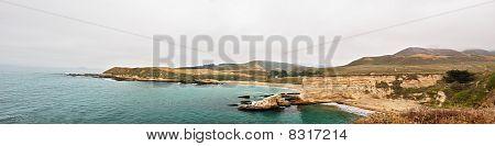 Panoramic View Of Spooner's Cove, Montana De Oro State Park, California