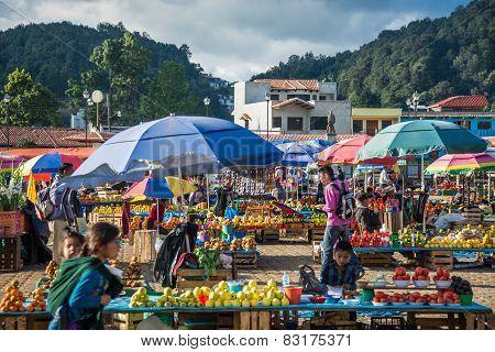 San Juan Chamula, Mexico - Dicember 2 San Juan Chamula, Inhabited By Indigenous Tzotzil Maya People,