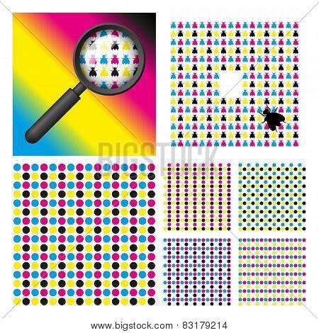 CMYK color elements set
