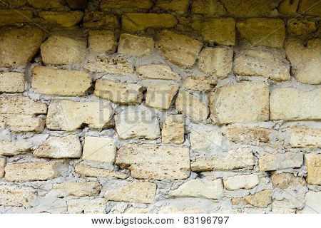 Masonry Of Coquina Bricks