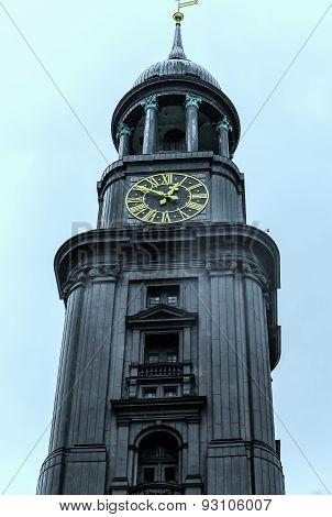 St. Michaelis Baroque Church in Hamburg, Germany