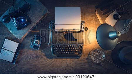 Vintage Journalist's Desk