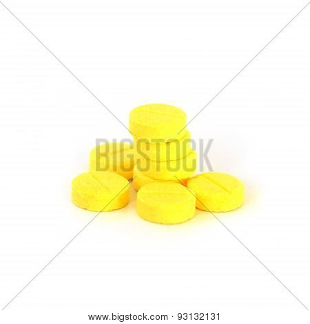 Amphetamine Isolate On White Background (drug)