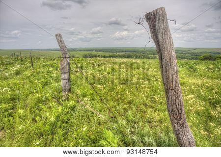 wooden fence in Kansas Flint Hills
