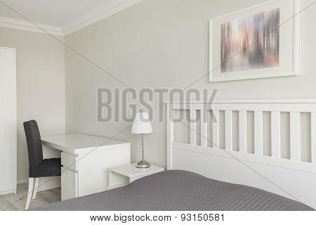 Contemporary White And Gray Interior