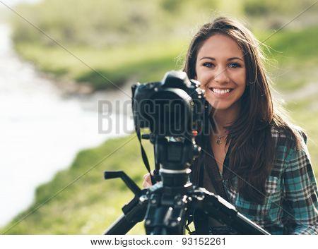 Smiling Professional Photographer